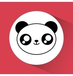 Kawaii panda icon cute animal graphic vector