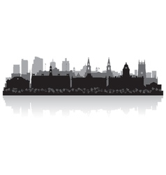 Leeds city skyline silhouette vector image