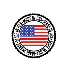 Made in usa round rubber stamp for products vector