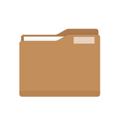 manila folder with document vector image vector image