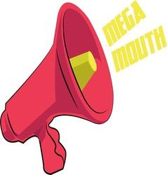 Mega mouth vector