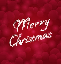 Merry christmas background with typography vector
