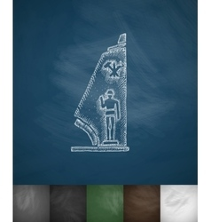 military pedestal icon Hand drawn vector image