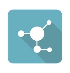 Molecule icon square vector