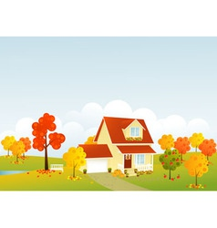Nice house vector image