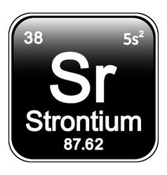 Periodic table element strontium icon vector