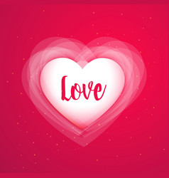 Pink background with shiny love heart vector