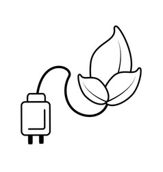 plant leaf icon isolated vector image