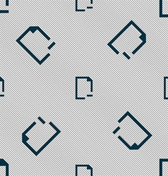 Remove folder icon sign seamless pattern with vector