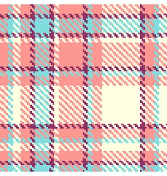 Seamless plaid fabric vector image vector image