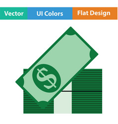 Stack of banknotes icon vector