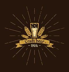 Vintage logo beer brewery sign design poster vector