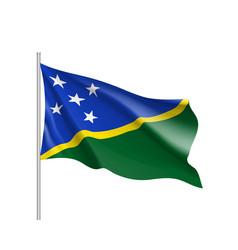 Waving flag of solomon islands vector