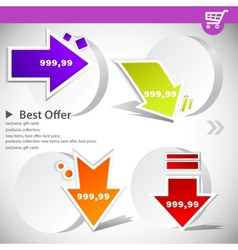 web banners with product prices vector image vector image