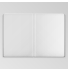 White open book cover template vector