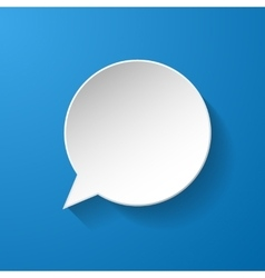 White paper speech bubble vector image