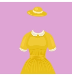 Woman dress with hat temlate without head vector