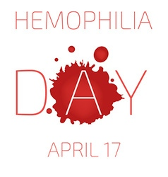 Hemophilia day vector