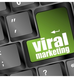 Viral marketing word on computer keyboard vector