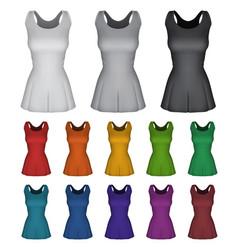 Plain female netball dress template vector