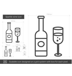 Sparkle wine line icon vector