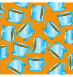 Cup blue with drink vector