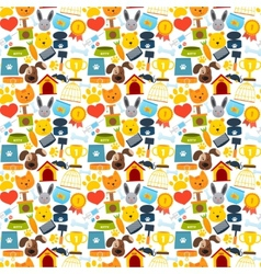 Pets seamless pattern vector