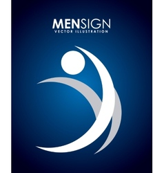 Men sign vector
