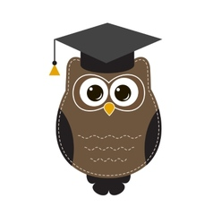 Owl in hat vector