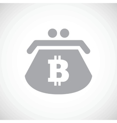 Bitcoin purse icon vector