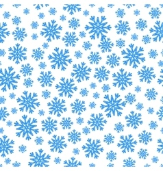Christmas seamless pattern with blue snowflakes vector