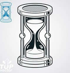 Retro dimensional sand-glass simple additio vector