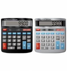 the financial calculator vector image
