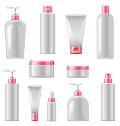 Cosmetic packaging icons vector