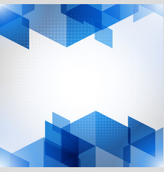abstract blue background with polygons vector image vector image