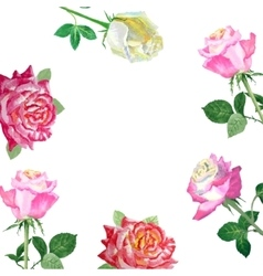 Background with red roses-03 vector image