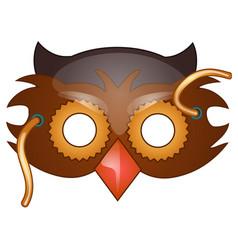 bird beak mask on face in cartoon style vector image vector image