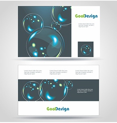 Blue modern business-card set eps10 design vector