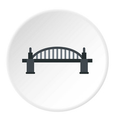 Bridge icon circle vector