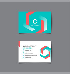 business name card background vector image vector image