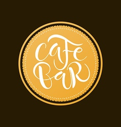 Cafe bar restaurant lounge logotype vector