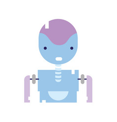 Colorful tecnology robot face with chest design vector
