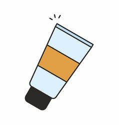 Cosmetic cream icon vector