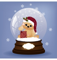 Cute christmas postcard template vector image