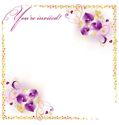 delicate flowers with butterflies vector image vector image