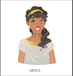 digital funny cartoon greek vector image