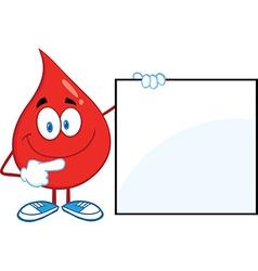 Drop of blood cartoon character vector