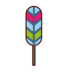 Feather hippie style icon vector