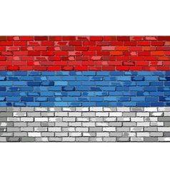 Flag of Serbia on a brick wall vector image vector image