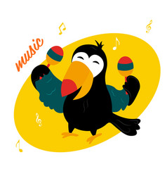 Funny cartoon toucan vector